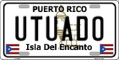 Utuado Puerto Rico Wholesale Metal Novelty License Plate LP-2881