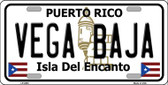 Vega Baja Puerto Rico Wholesale Metal Novelty License Plate LP-2883