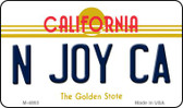 N Joy CA California State License Plate Wholesale Magnet