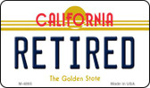 Retired California State License Plate Wholesale Magnet