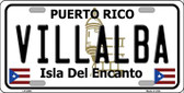 Villalba Puerto Rico Wholesale Metal Novelty License Plate LP-2885