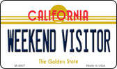 Weekend Visitor California State License Plate Wholesale Magnet