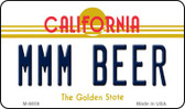 MMM Beer California State License Plate Wholesale Magnet
