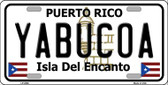 Yabucoa Puerto Rico Wholesale Metal Novelty License Plate LP-2886