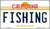 Fishing California State License Plate Wholesale Magnet