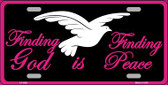 Finding God Finding Peace Black Wholesale Metal Novelty License Plate