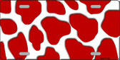 Red White Giraffe Print Wholesale Metal Novelty License Plate LP-2910