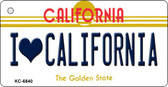 I Love California California State License Plate Wholesale Key Chain