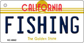 Fishing California State License Plate Wholesale Key Chain