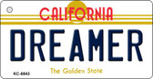 Dreamer California State License Plate Wholesale Key Chain