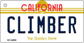 Climber California State License Plate Wholesale Key Chain