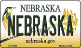 Nebraska State License Plate Wholesale Magnet
