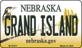 Grand Island Nebraska State License Plate Wholesale Magnet
