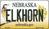Elkhorn Nebraska State License Plate Wholesale Magnet