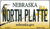 North Platte Nebraska State License Plate Wholesale Magnet