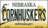 Corn Huskers Nebraska State License Plate Wholesale Magnet