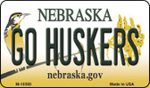 Go Huskers Nebraska State License Plate Wholesale Magnet