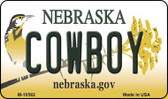 Cowboy Nebraska State License Plate Wholesale Magnet