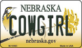 Cowgirl Nebraska State License Plate Wholesale Magnet