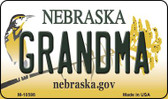 Grandma Nebraska State License Plate Wholesale Magnet