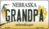 Grandpa Nebraska State License Plate Wholesale Magnet