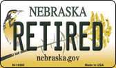 Retired Nebraska State License Plate Wholesale Magnet