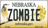 Zombie Nebraska State License Plate Wholesale Magnet