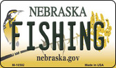 Fishing Nebraska State License Plate Wholesale Magnet