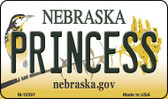 Princess Nebraska State License Plate Wholesale Magnet
