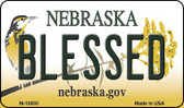 Blessed Nebraska State License Plate Wholesale Magnet