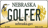 Golfer Nebraska State License Plate Wholesale Magnet