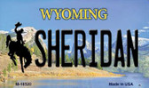 Sheridan Wyoming State License Plate Wholesale Magnet