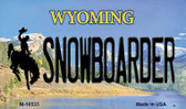 Snowboarder Wyoming State License Plate Wholesale Magnet