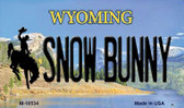 Snow Bunny Wyoming State License Plate Wholesale Magnet