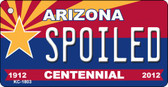 Spoiled Arizona Centennial State License Plate Wholesale Key Chain