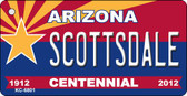 Scottsdale Arizona Centennial State License Plate Wholesale Key Chain