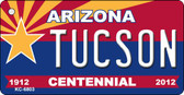 Tuscon Arizona Centennial State License Plate Wholesale Key Chain
