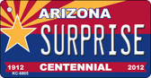 Surprise Arizona Centennial State License Plate Wholesale Key Chain