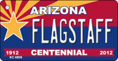 Flagstaff Arizona Centennial State License Plate Wholesale Key Chain