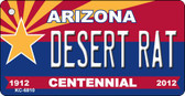 Desert Rat Arizona Centennial State License Plate Wholesale Key Chain