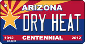 Dry Heat Arizona Centennial State License Plate Wholesale Key Chain