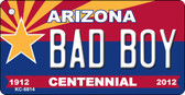 Bad Boy Arizona Centennial State License Plate Wholesale Key Chain