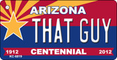 That Guy Arizona Centennial State License Plate Wholesale Key Chain