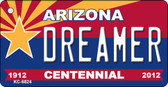 Dreamer Arizona Centennial State License Plate Wholesale Key Chain