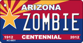Zombie Arizona Centennial State License Plate Wholesale Key Chain