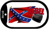 Rebel Cap and Confederate Flag Dog Tag Kit Metal Novelty Necklace Wholesale
