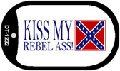 Kiss My Rebel Ass Dog Tag Kit Metal Novelty Necklace Wholesale