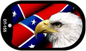 Confederate Flag With Eagle Dog Tag Kit Metal Novelty Necklace Wholesale