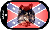 Confederate Wolf Dog Tag Kit Novelty Wholesale Necklace DT-2407