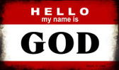 Hello My Name Is God Wholesale Magnet